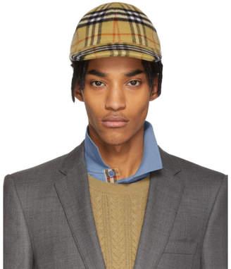 Burberry Multicolor Vintage Check Wool Cap