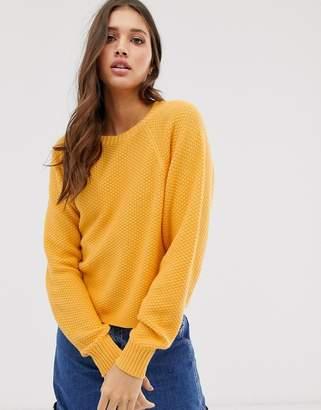 Hollister yellow knit sweater
