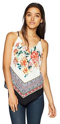 Amy Byer A. Byer Shirt Pull On Junior's Halter Style Cami Top with V Hemline