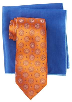 Ted Baker Medallion Tie & Pocket Square Set