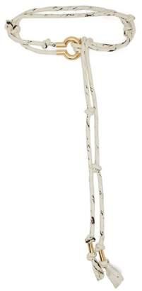 Chloé Braided Rope Belt - Womens - White