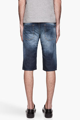 Diesel Bule faded and distressed Shishort denim Shorts