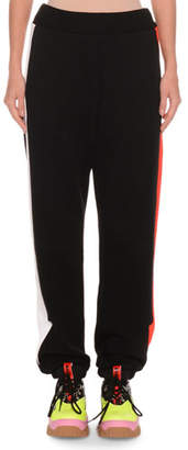 MSGM Cotton Jogger Sweatpants w/ Arrows