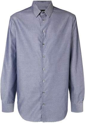 Giorgio Armani herringbone print shirt