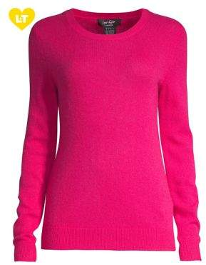 Lord & Taylor Petite Petite Essential Cashmere Crewneck Sweater