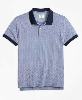 Brooks Brothers Floral-Print Cotton Jersey Polo Shirt