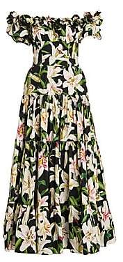 Dolce & Gabbana Dolce& Gabbana Dolce& Gabbana Women's Off-The-Shoulder Gathered Floral Dress
