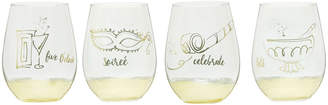 Jay Import Co Soiree Stemless Wine Goblets, Set of Four