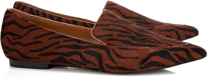 3.1 Phillip Lim Scarlet Calf hair Spade Loafers