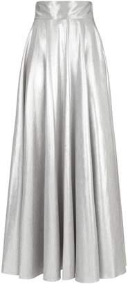 Diane von Furstenberg Metallic Maxi Skirt