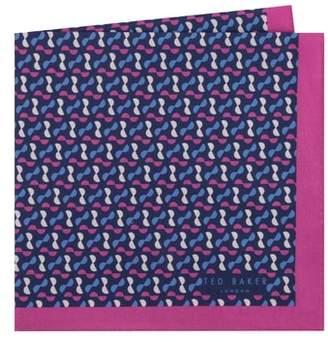 Ted Baker Geometric Cotton Pocket Square