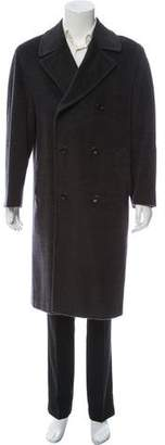 Canali Wool Double-Breasted Coat