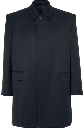 Balenciaga Oversized Wool-Twill Coat $2,500 thestylecure.com