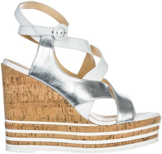 Hogan Leather Shoes Wedges Sandals H361