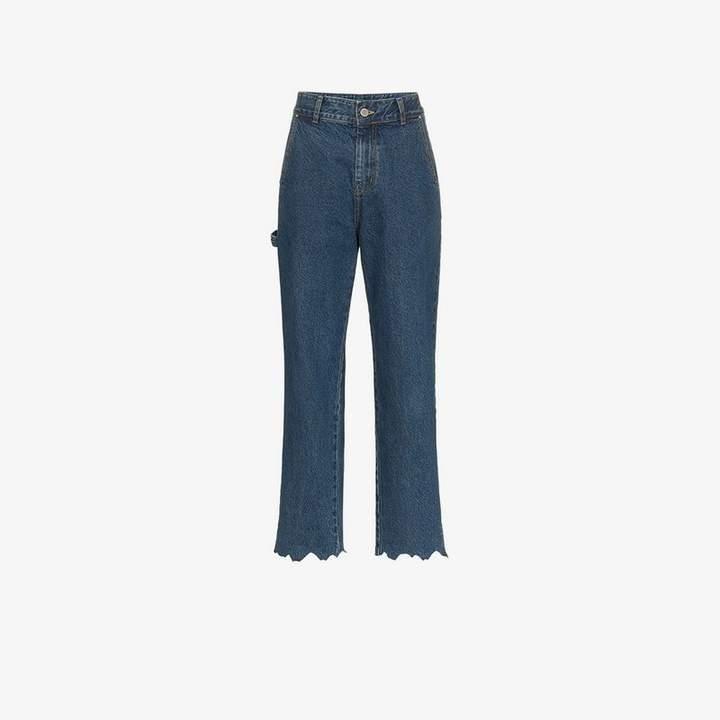 Ader Error High-Waisted Boyfriend Jeans