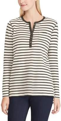 Chaps Women's Striped Henley Top