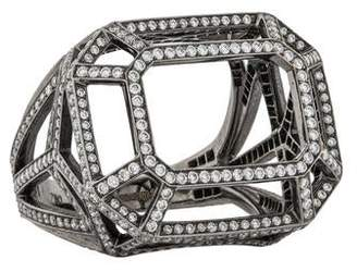 Solange Azagury-Partridge 18K Diamond Skeleton Ring
