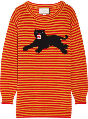 Gucci Intarsia Wool Sweater - Orange