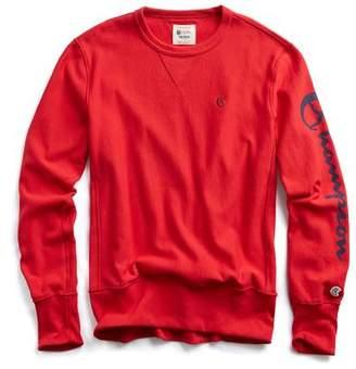 Todd Snyder + Champion Champion Graphic Sleeve Sweatshirt in Red