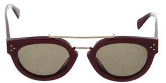 Celine Square Tinted Sunglasses Red Square Tinted Sunglasses