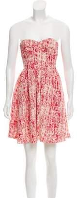Jay Godfrey Printed Strapless Dress