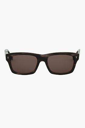 Yves Saint Laurent Black and grey Dark Horn Sunglasses