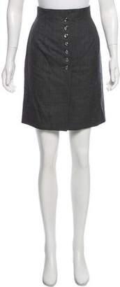 Christian Dior Knee-Length Wool Skirt