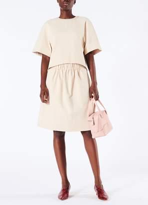 Tibi Bond Stretch Knit Raglan Short Sleeve Top