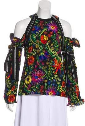 3.1 Phillip Lim Floral Print Cold-Shoulder Top