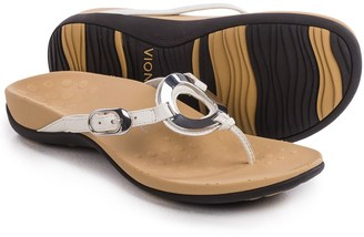 Vionic with Orthaheel Technology Karina Flip-Flops - Leather (For Women) $59.99 thestylecure.com