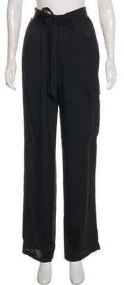 Tom Ford Wide-Leg High-Rise Pant