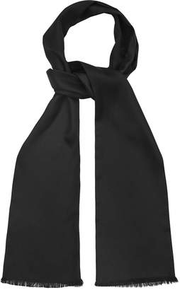 Reiss Our last order date for Christmas has now passed LEON SILK DRESS SCARF Black