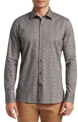Saks Fifth Avenue MODERN Splatter Floral Button-Down Shirt
