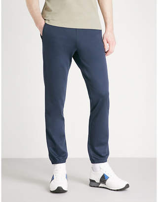 BOSS GREEN Relaxed-fit jersey jogging bottoms