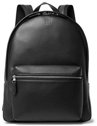 Dunhill Hampstead Canvas-Panelled Leather Backpack