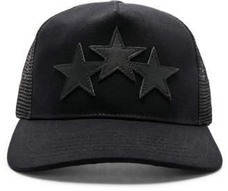 Amiri Leather Stars Trucker Hat