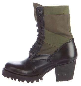 Junya Watanabe Canvas Combat Boots $325 thestylecure.com