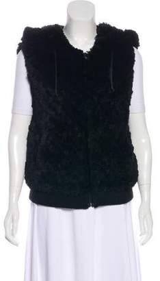 Alice + Olivia Knit Fur Vest
