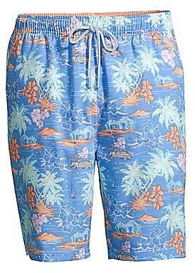 b6f75058b1 Peter Millar Men's Hawaiian Sunset Print Swim Shorts
