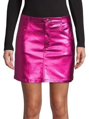 Topshop Metallic Mini Skirt