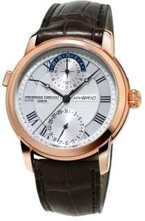 Frederique Constant Rose Goldtone Leather Strap Watch