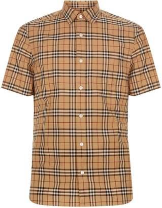 Burberry Short Sleeve Check Shirt