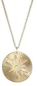 Jennifer Zeuner Jewelry Iris Diamond Pendant Necklace