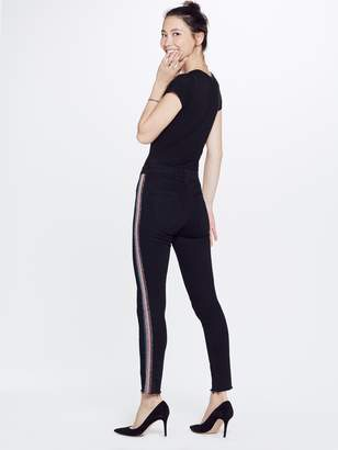 Mother High Waisted Looker Ankle Fray - Guilty Glitter Racer