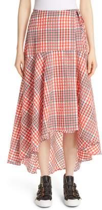 Ganni Charron Plaid Wrap Skirt