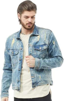 883 Police Mens Nord Denim Jacket Light Wash
