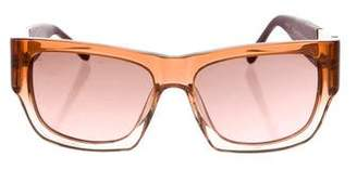 Linda Farrow The Row x Rectangular Gradient Sunglasses