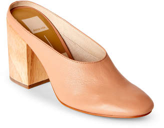Dolce Vita Blush Caley Leather Block Heel Mules