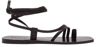 A.Emery A.emery - Beau Ankle Tie Leather Sandals - Womens - Black