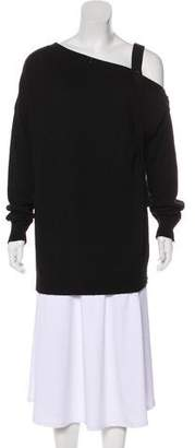 Tomas Maier One-Shoulder Long Sleeve Sweater